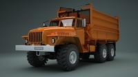 obj soviet truck ural 5557
