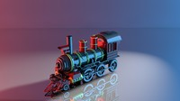 trains engines 3d model
