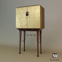 baker kiosk butlers cabinet 3d dxf