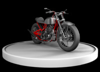 3d model of cafe racer