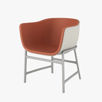 fritz hansen chair 3d model