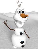 maya snowman character olaf