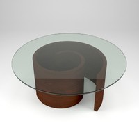 3d model spiral coffee table