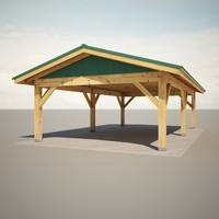 3d model of park shelter