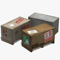3d model of crate