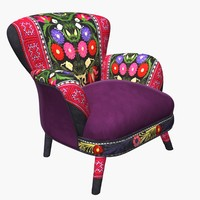 3d model armchair suzani chair