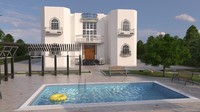3d model of residential swimming pool