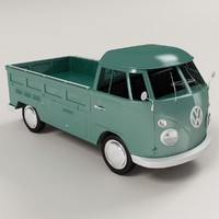 volkswagen type 2 pickup 3d model