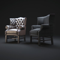 3dsmax wingback-chair