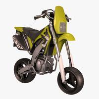 mini motocross bike 3d model
