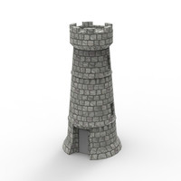 3d model tower castle