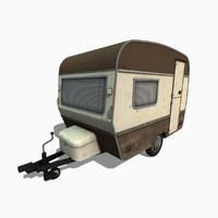 3d caravan trailer