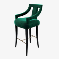 3d model brabbu eanda bar chair