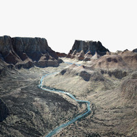 grand canyon 3d obj
