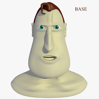c4d morphed head hero male cartoon
