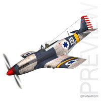 north american p-51d - 3d 3ds