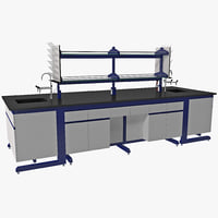 3d laboratory table design model