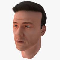 3dsmax male head 19 hair