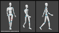 walk girly 4 alan motion capture animation