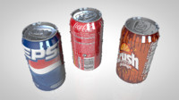 soda cans pack 3d model