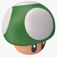 super mario green mushroom max