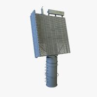 3d model sps-48 radar parts