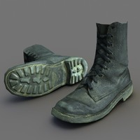 3d model of german fallschirmjager boot