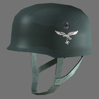 3d model german fallschirmjager helmet