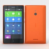nokia xl dual orange 3d model