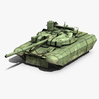 Ukrainian Tank T-84 Oplot-M Low Poly