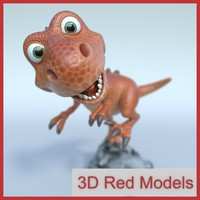 t-rex cartoon 3d model