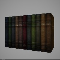 3d model book v-ray