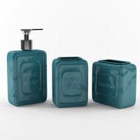 3dsmax bathroom set accessories