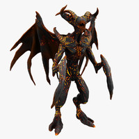 3d model demon monster