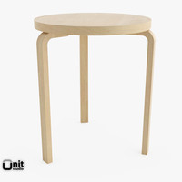 3d wood artek table 90c model