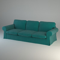 3d ektorp three-seat sofa model