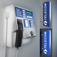 pay phone 3d max