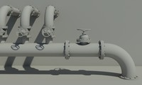 industrial pipes 3ds