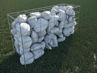 gabion basket stone 3d model