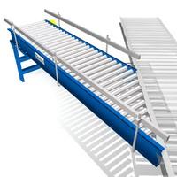 3d live driven conveyors model