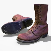 3ds max ww2 paratrooper boot
