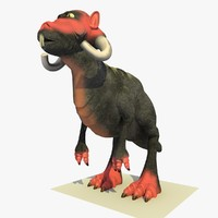 3d model mutant alien t-rex cartoon