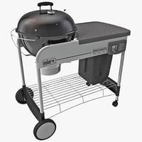 charcoal grill weber 3d max