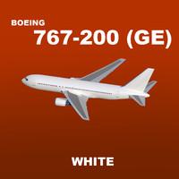 boeing 767-200 white 3d model