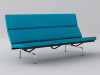 3d eames compact sofa
