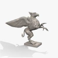 3d max griffin statue