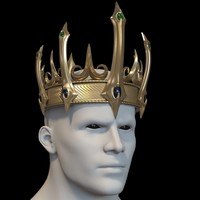 3d crown evil king