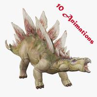 maya stegosaurus dinosaur animations