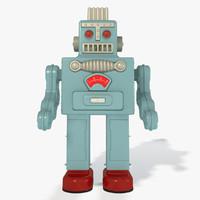 3d max vintage toy robot