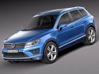 2015 volkswagen touareg 3d c4d